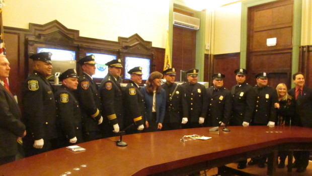 Hoboken Police Department Ceremony Honors Six New Sergeants, One Lieutenant, and a Retirement