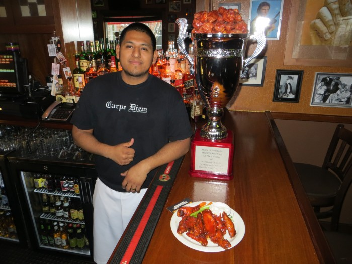 "Carpe Diem—""Best Wings in Hoboken"" two years in a row!!!"