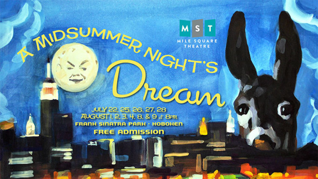 "Mile Square Theatre Presents ""A Midsummer Night's Dream"" in Hoboken's Sinatra Park"