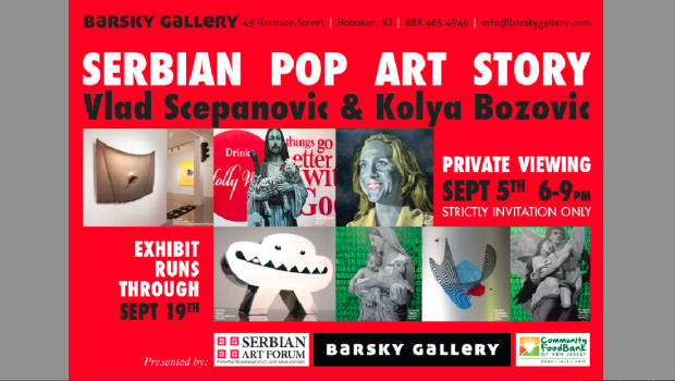 "Barsky Gallery Presents ""Pop Art Story,"" Featuring Serbian Artists Vlad Scepanovic & Kolya Bozovic."