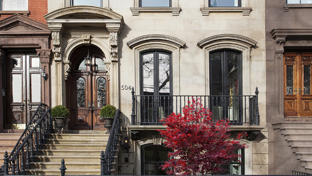 FEATURED PROPERTY: Limestone Townhouse Mansion at 504 Hudson Street — $6,500,000