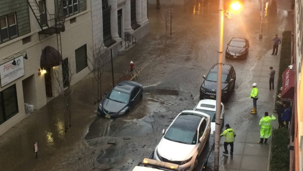 Hoboken Water Main Break — 1st & Clinton