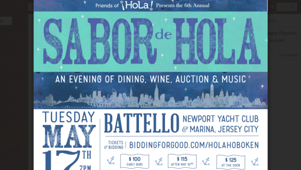 SABOR DE HOLA: Fundraiser for Hoboken's Dual Language Charter School at Battello—TUESDAY, MAY 17