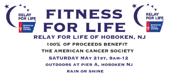 FITNESS FOR LIFE: Exercise Relay Event to Benefit American Cancer Society—SATURDAY