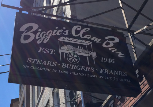 AHHHHHH, SHUCKS — Biggie's Clam Bar to Consolidate; Shift Operations to Waterfront Location