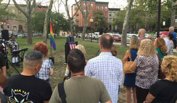 Community Rallies on Behalf of Hoboken Priest Who Was Suspended for LGBT Outreach
