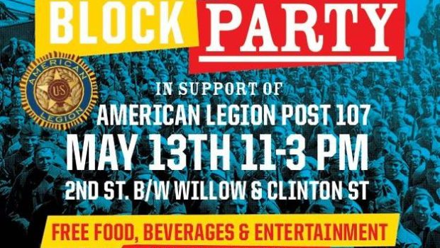REBUILD: Block Party to Raise Funds for Hoboken American Legion Post 107 — SATURDAY, MAY 13th