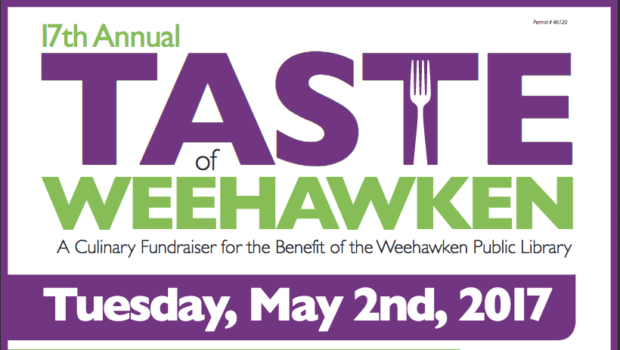 TASTE OF WEEHAWKEN: Fundraiser for the Weehawken Public Library — TUESDAY, MAY 2nd