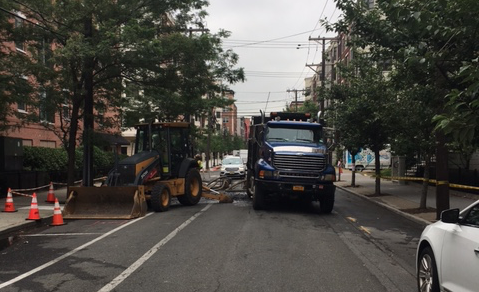 HOBOKEN WATER MAIN BREAK: 13th & Grand