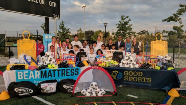 Bear Partners with Good Sports to Donate $30,000 in Equipment to Jersey City Soccer Program