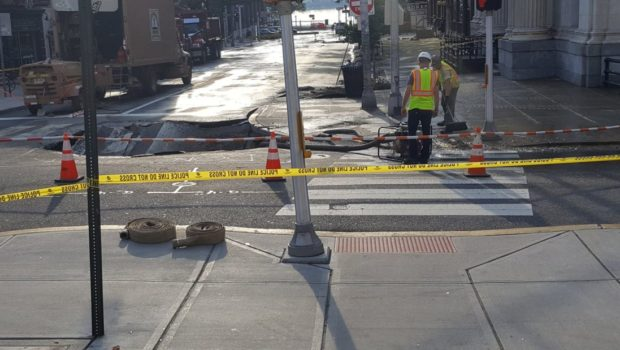 Hoboken Faces Yet Another Water Main Break — Newark & Hudson Sts.