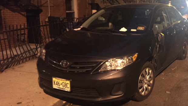 ALL DOLLARS AND NO SENSE: Car Smashed Onto Curb in Hit-And-Run Gets Ticket From Hoboken Parking Utility