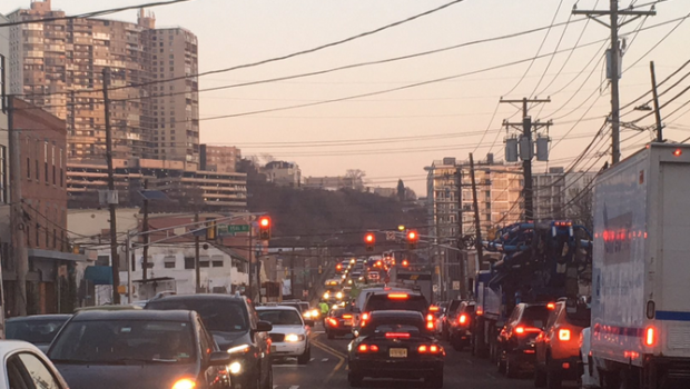 Weehawken Water Main Break Causing Gridlock Conditions For Commute