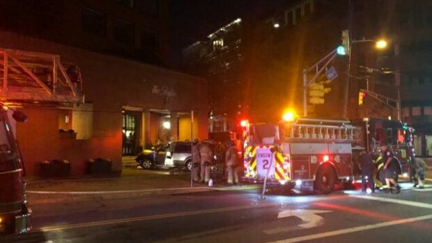 Car Plows Into Hoboken Building, Catches Fire