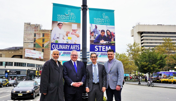 HUDSON COUNTY COMMUNITY COLLEGE: New Banners in Journal Square Highlight A Growing College Campus