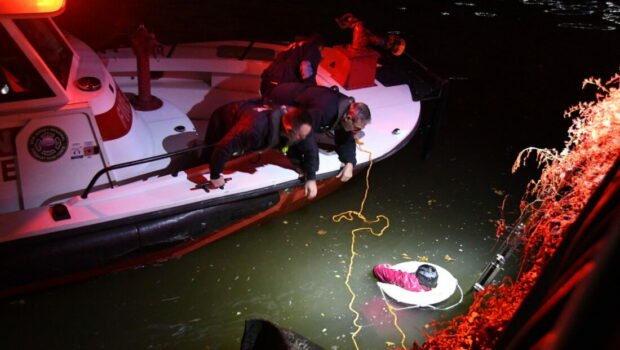 Hoboken Fire Department Involved in Dramatic Early Morning Water Rescue Off Pier C