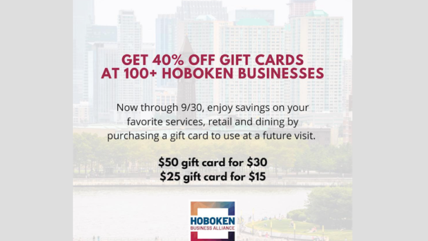 SHOP LOCAL, SAVE LOCAL: Hoboken Business Alliance Launches Gift Card Program to Invigorate Support for Local Businesses