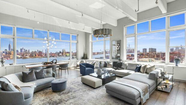 FEATURED PROPERTY: 1500 Hudson Street 12IJ, Hoboken | Penthouse Corner Loft at Hudson Tea | $4,595,000